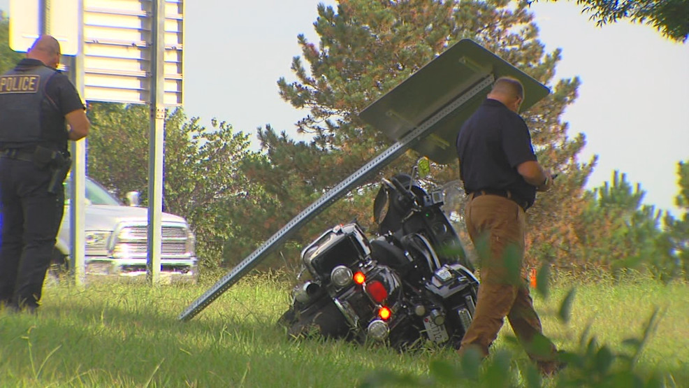 Motorcycle Officer Suffers Minor Injuries In Crash